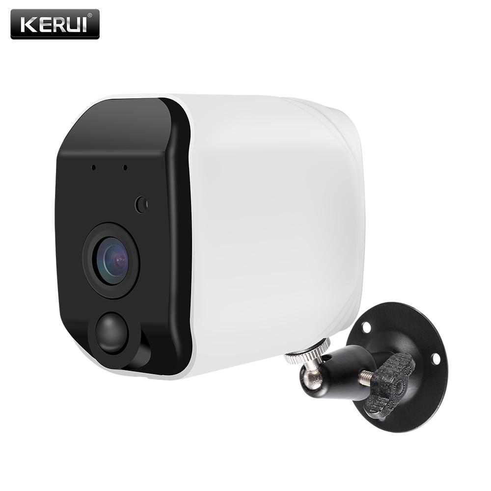KERUI H.264 Sem Fio Ao Ar Livre 1080 P Full HD WiFi 2.4G 18650 Bateria Câmera IP Indoor Segurança Vigilância Início IR-CUT câmera