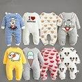 2016 nuevo mameluco del bebé niño niña ropa onepiece jumpsuit marca traje de niño traje de ropa infantil bebes tigre conejo mickey