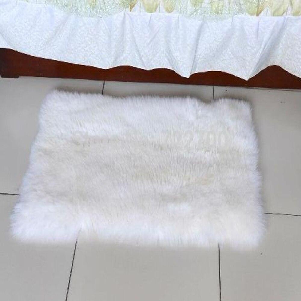 White Sheepskin Rug Fur Carpet Bed Real Fur Blanket Blankets For ... for Sheep Fur Blanket  588gtk