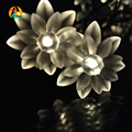 7M 50LED Waterproof Lotus LED Solar Fairy Garlands String Light Outdoor Wedding Birthday Bars Hotels Decoration Casamento Luces