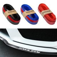 2 5m Carbon Fiber Rubber Soft Car Bumper Strip Exterior Front Bumper Lip Kit Fashion Car