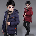 Children's clothing male child winter wadded jacket child 2016 8 outerwear 9 boy winter medium-long 12 10 cotton-padded jacket