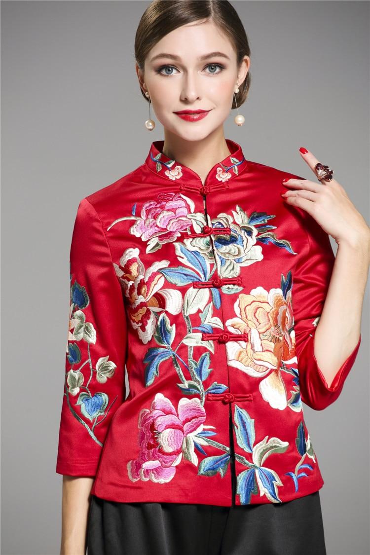 2019 Chinese Vintage Embroidery Yokosua Jacket For Women