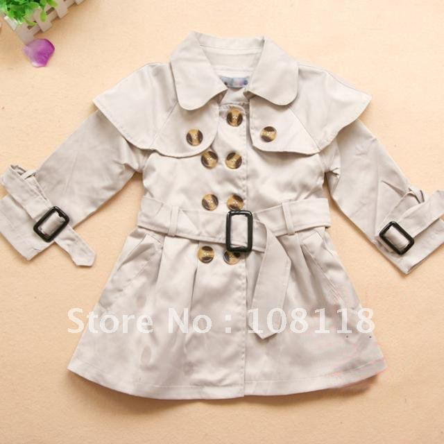 New fashion khaki girl jacket5 pcs/lotTop quality fashion baby