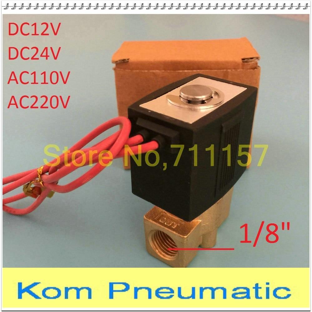 "1pc 1/8"" Mini Brass Solenoid Valve Smc Type 2 Way 2 Position Air Gas Diesel Oil Steam 12v Dc 24v Ac 220v 110v Vx2120-06 Dn6 Reliable Performance"