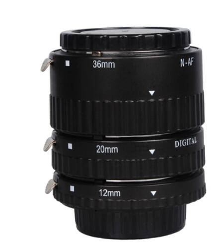 Prix pour Électronique Montage TTL Autofocus AF Macro Extension Tube Anneau ensemble pour Nikon D7100 D5200 D3200 D800 D800E D5100 D7000 D3100