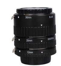 Электронный Гора TTL автоматической фокусировки AF Макрос Удлинитель кольцо Набор для Nikon D7100 D5200 D3200 D800 D800E D5100 D7000 d3100