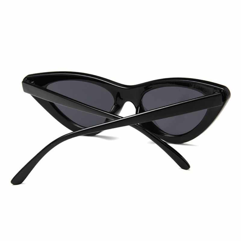Neue Retro Mode Sonnenbrillen Frauen Marke Designer Vintage Katze Auge Schwarz Weiß Sonnenbrille Weibliche Dame UV400 Oculos