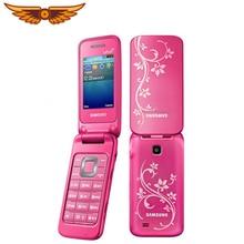 samsung C3520 разблокированный 2,4 дюймов английская клавиатура только 3g WCDMA 1.3MP Флип Мобильный телефон Восстановленный мобильный телефон