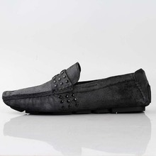 QYFCIOUFU Mens Genuine Leather Moccasins Stylish Suede Loafers Men Comfort Driving Shoes Male Slip-on Flats Gommino Boat Shoes