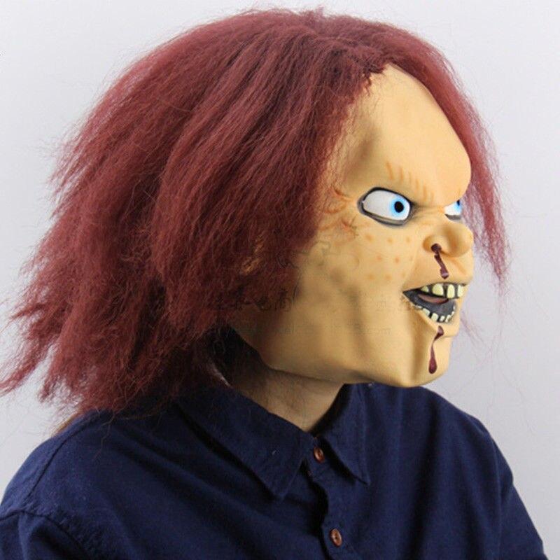 Image 2 - Детская игра Чаки маска Террор Хэллоуин страшные взрослые полный голова опора косплей латексные маски-in Аксессуары для костюмов from Новый и особенный в использовании