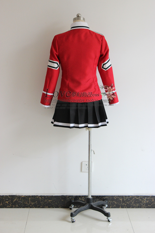 Fairy Tail Wendy Marvell Cosplay Costume School Uniform tops+skirt+tie free shipping