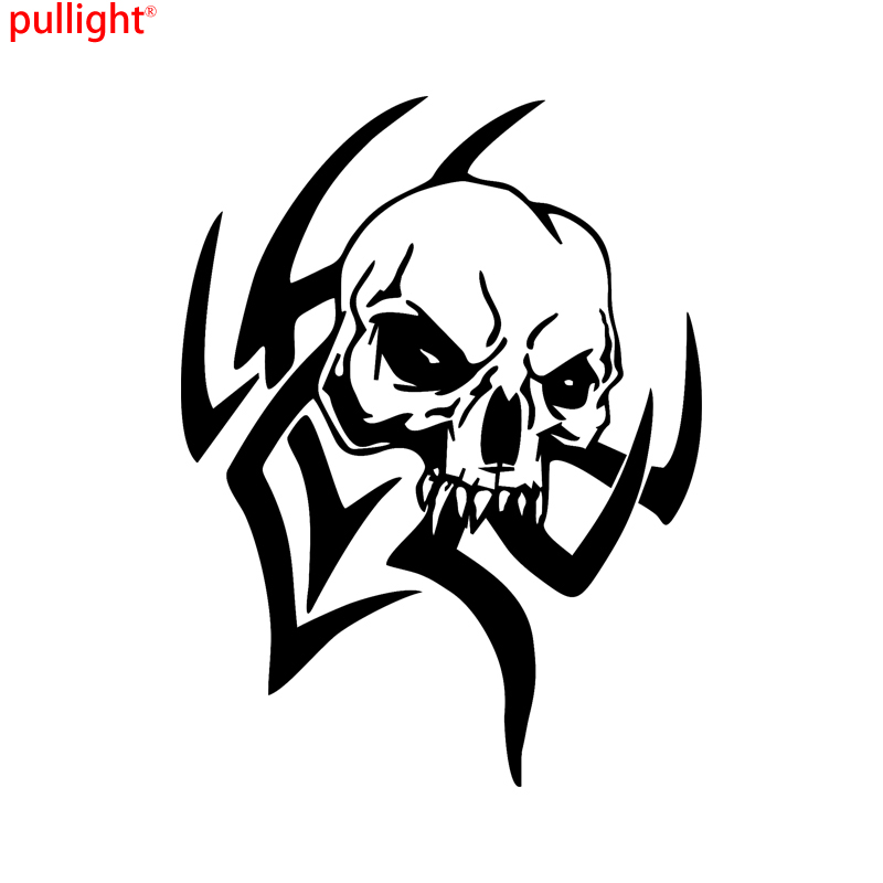 Tribal Skull Design Car Truck Window Laptop Vinyl Decal Sticker in Car Stickers from Automobiles Motorcycles