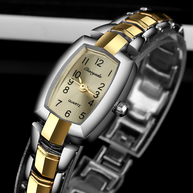 Womens Wristwatch Gold Silver Bracelet Relogio Feminino Luxury Crystal Watch Women Watches Stainless Steel Mujer Bayan Kol Saati