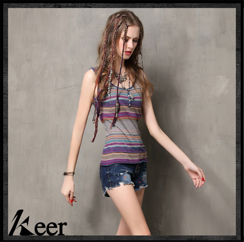 High Quality Summer Vintage Women Cotton Tank Top Women\'s Bodycon Cotton Vest Top Sleeveless  O-Neck Tank tops Breathable (6)