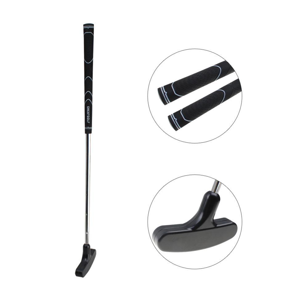 Crestgolf Left Right Handed Mini Golf Putter Steel For Golf Practice Clubs With Rubber Putter Head & Shaft Clubs De Golf Unisex