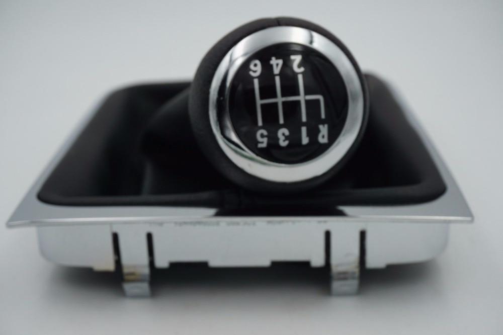 Prix pour GRAISSE Pour VW Passat B6 2006 2007 2008 2009 2010 2011 nouveau 6 Vitesse Voiture Pommeau Avec Botte En Cuir 3C0711113A