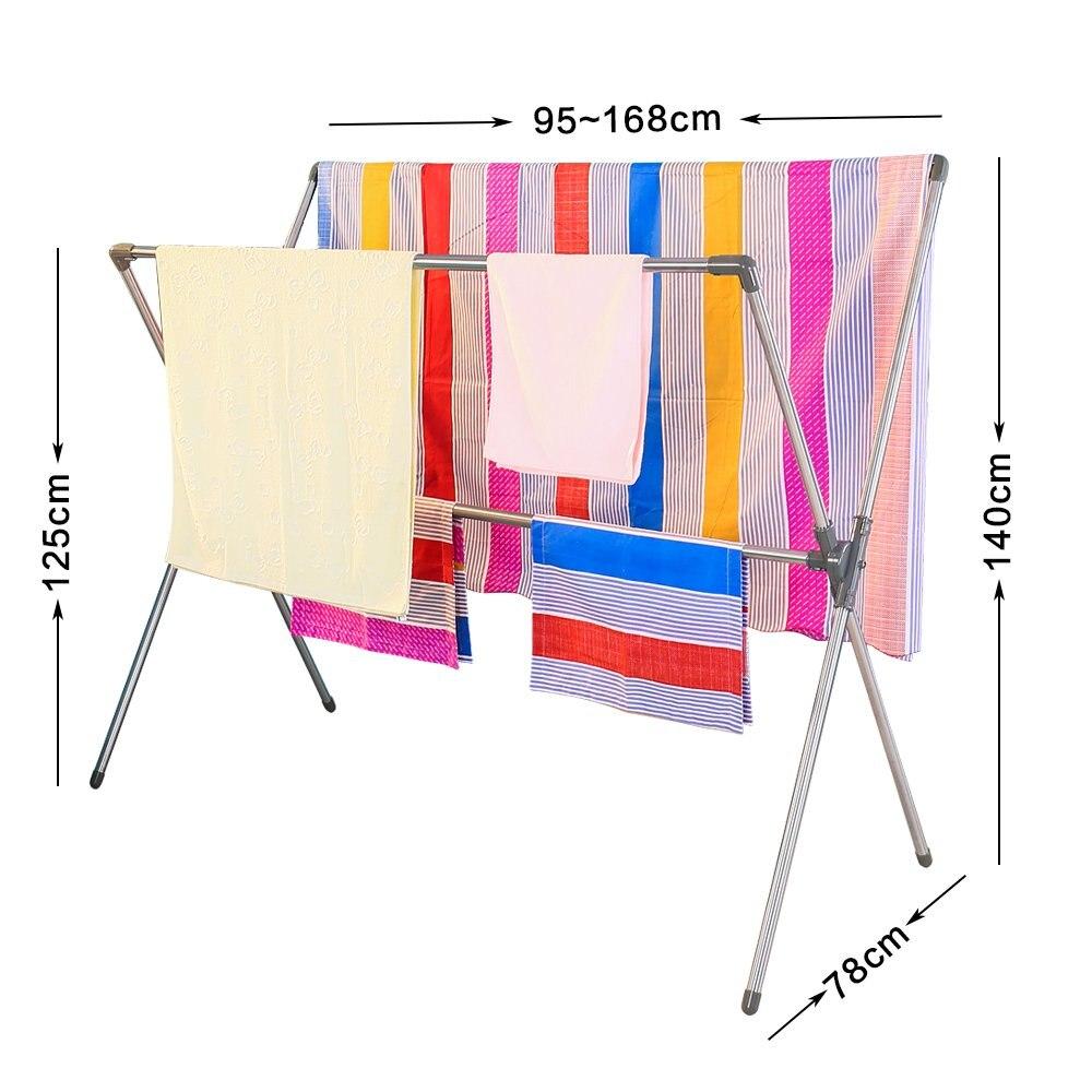 Wasserij X Vorm Vouw Kleding Quilt Opknoping Droogrek Draagbare Passen Droger Hanger Airer Stand Rack voor Indoor Outdoor DQJ007 - 2