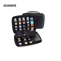 Flash Large Carrying Portable Case With 23 Elastic Bands For Cables USB Sticks Hard Drive Memory