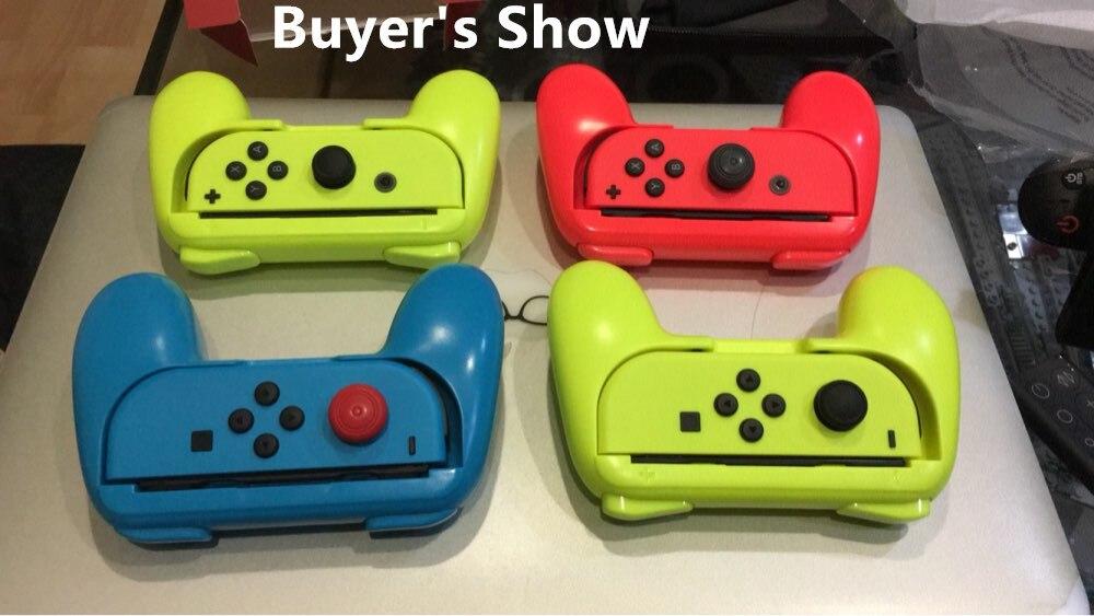 Купить с кэшбэком Handle Joystick Hand Grip Kit for Nintendo Switch NS NX Joycon Controller Bracket Holder Joypad for switch accessories