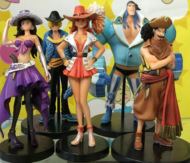 Newest arrival 5pcs/set Anime 15 anniversary 107 generation one piece Franky Nami Sanji Robin action pvc figure toy tall 18cm. free shipping japanese animation cool 5x one piece usopp sanji nami robin franky 14cm 16cm pvc figure set loose