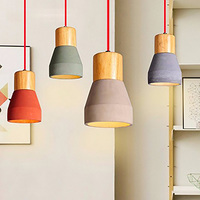 Coquimbo American Country Style Metal Cement Pendant Lamp E26 E27 150CM Wire Decoration Hanging Lamp For