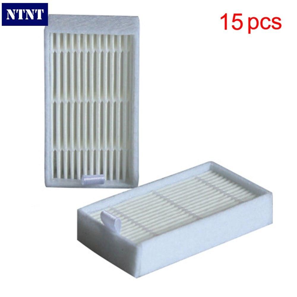 все цены на NTNT 15 pcs / Lot Hepa filters for Dibea Depoo Panda X500 ECOVACS X500 X600 CR120 Vacuum Cleaner parts replacement онлайн