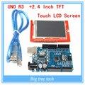 ООН R3 MEGA328P Для Arduino + 2.4 Дюймов TFT Сенсорный Модуль ЖК-Экран Для Arduino UNO R3 с бесплатной доставкой