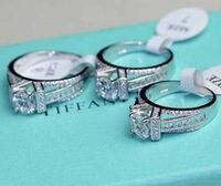 Victoira ויק choucong Jewerly כסף סטרלינג עגול לחתוך 925 AAA מעוקב Zirconia יוקרה מגדל אייפל נשים טבעת נישואים Size5-11