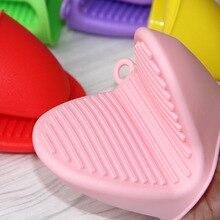 1 шт Лидер продаж рукавицы для микроволновой печи Кухня Удобный изоляцией силиконовая перчатка защита пальцев для выпечки и bbq инструмент F2958