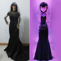 Hotel Transylvania Cosplay Costume Mavis Wedding Black Dress