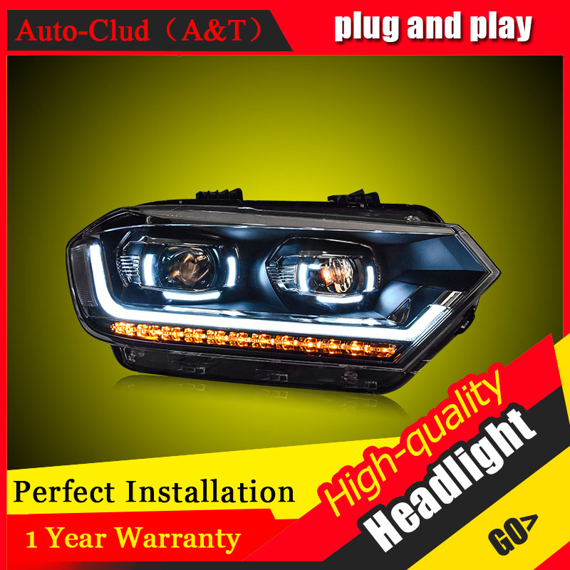 Auto Clud Car Styling For VW Bora headlights 2016-2017 For Bora head lamp led DRL front Bi-Xenon Lens Double Beam HID KIT auto clud car styling for honda fit headlights 2014 2017 for fit head lamp led drl front bi xenon lens double beam hid kit