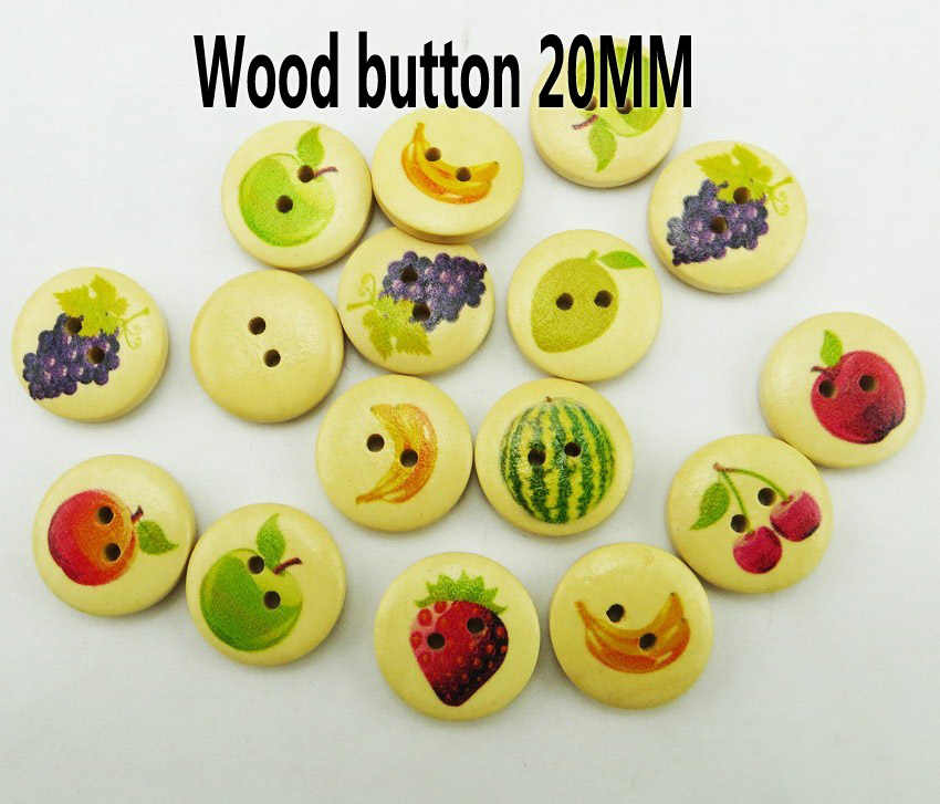 25 Pcs 20 Mm Butterefly dan Bentuk Bunga Lukisan Kayu Tombol Mantel Sepatu Jahit Aksesoris Pakaian MCB-303