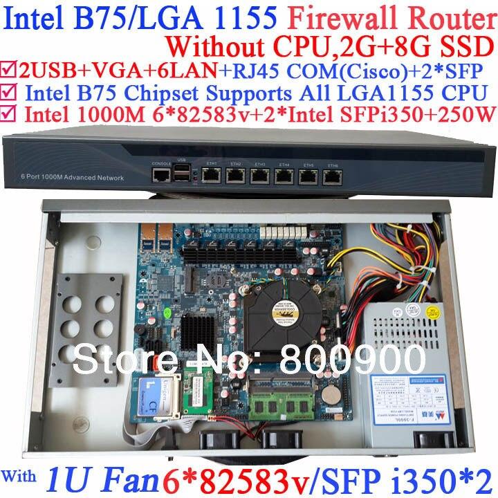 Best сетевые маршрутизаторы с B75 чип два порта sfp Intel i350 шесть 82583 В 1000 м LAN нет Процессор wayos рос Mikrotik поддержка 2 г Оперативная память 8 г SSD