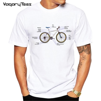 Fashion bikeing Design Anatomy Mechanic Bicycle Unisex T-Shirt T Shirt O-Neck Hipster Tshirts - discount item  46% OFF Tops & Tees