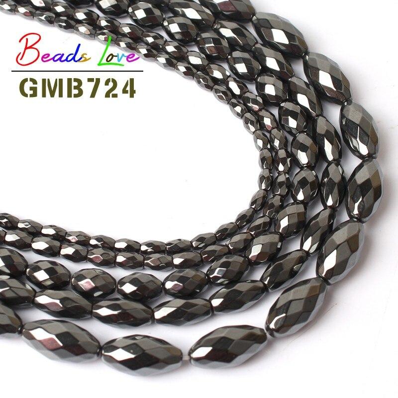 "8x16mm Drop Shape Non Magnetic Hematite bead 15/"" long"