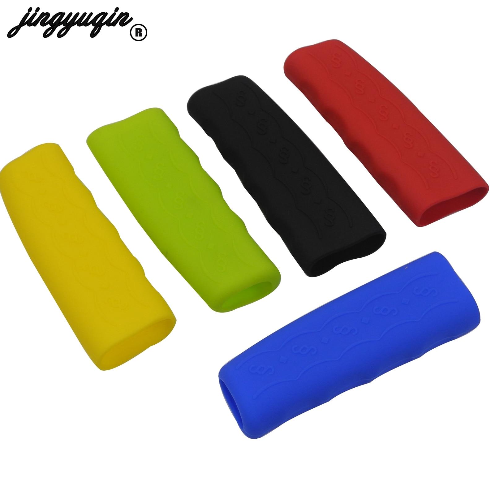Jingyuqin Car Handbrake Covers Sleeve Silicone Gel Case Anti-slip Parking Hand Brake Grips Sleeve Universal Decoration