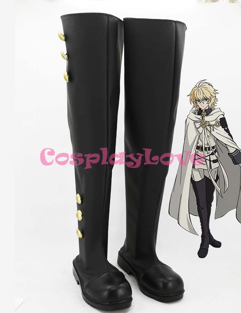 Custom Made Japanese Anime Owari no Seraph of the end Ferid Bathory Hyakuya Mikaera Mikaela Cosplay Boots Shoes For Halloween
