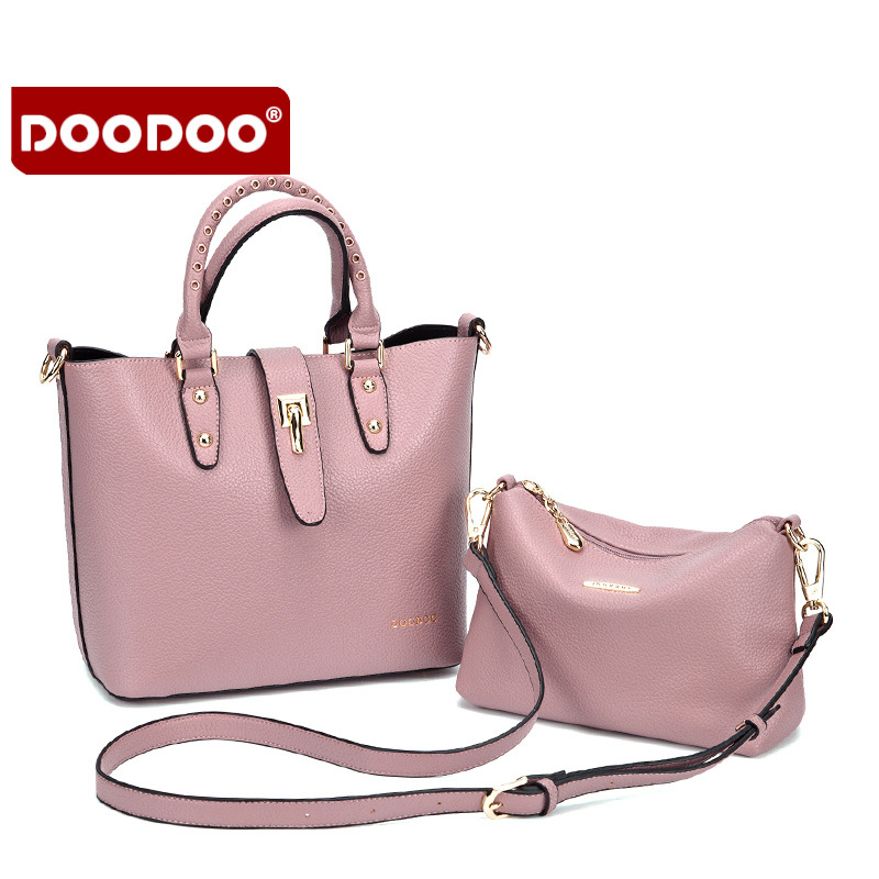 DOODOO 2016 Women Bag Genuine Leather Famous Brand Cowhide Women's Shoulder Bags Bolsa Femininas Luxury Brand Tassel hot T470
