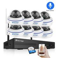 Techage 8CH система видеонаблюдения беспроводная 1080 P HD NVR 8 шт. 2.0MP инфракрасный наружный водонепроницаемый купольная видеокамера с Wi-Fi система н...
