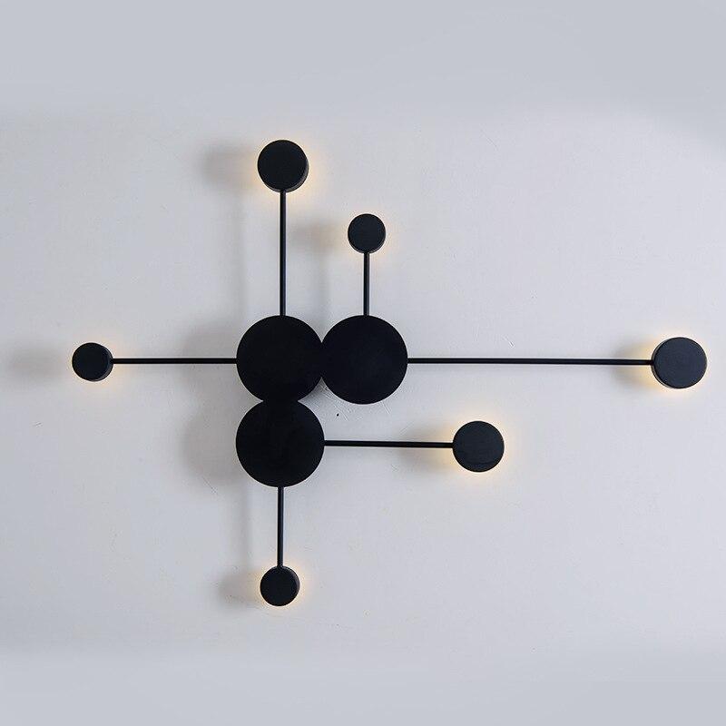 Nordic designer wall light led America retro decorative wall sconce fixture white black luminaire applique wandleuchte