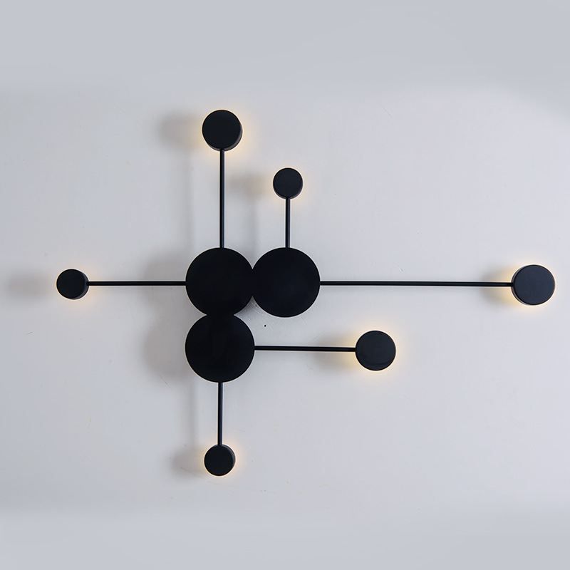 Nordic designer wall light led America retro decorative wall sconce fixture white black luminaire applique wandleuchte-in LED Indoor Wall Lamps from Lights & Lighting    1