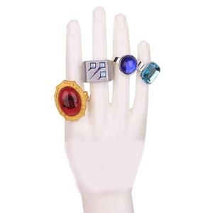 Image 4 - Coshome traje de Cosplay de superseñor Ainz, accesorios de Cosplay, anillos y máscara de calavera