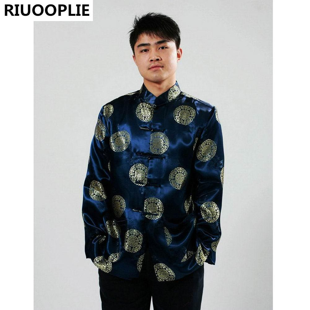 RIUOOPLIE Pakaian Cina untuk Lelaki Top Tang Suit Tahun Baru Hadiah - Pakaian kebangsaan - Foto 5