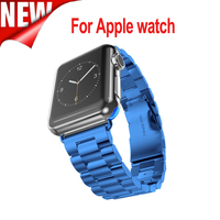 38mm 42mm Smart Watch Metal Band For Apple Watch Strap Three Links Bracelet Stainless Steel Band