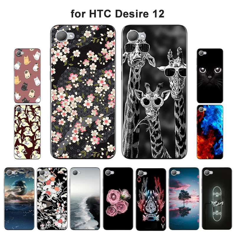 5.5 inch for HTC Desire 12 Full Protective Mobile Phone for HTC Desire 12 Capas Blaze Painted Silicone TPU Soft Fitted Case