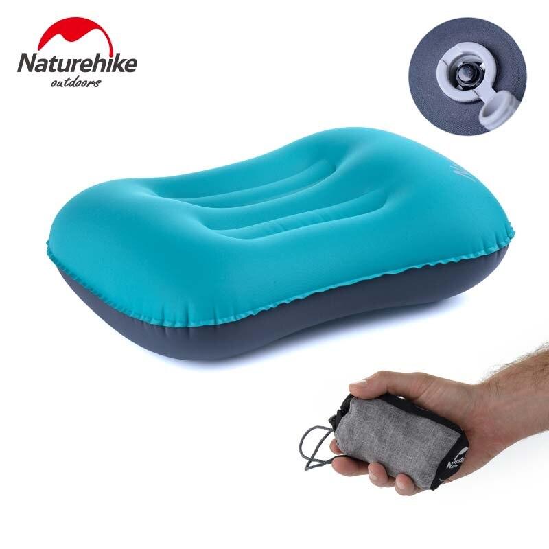 NatureHike NH Ao Ar Livre Inflável Travesseiro de Viagem de Acampamento Do Carro Proteção Portátil Travesseiro Inflável Pescoço Travesseiro de Viagem de Avião