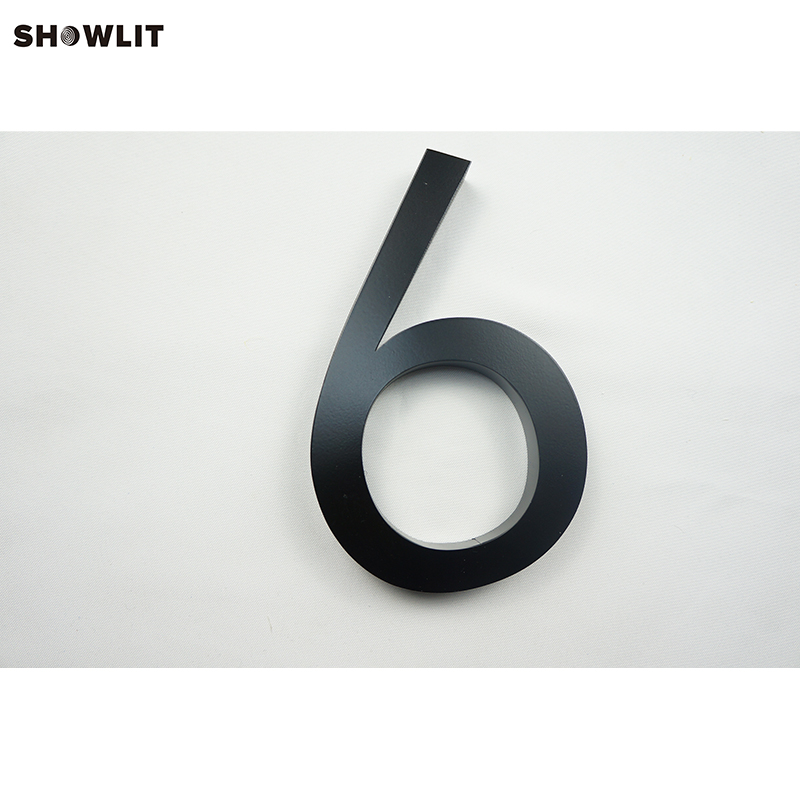 Custom Made 3D Black Painted Outdoor Modern Big House Numbers Letters custom made golden color modern house numbers