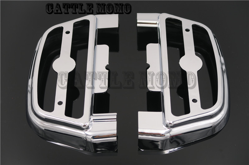 Motor Passenger Pedal Footrests Footboard Cover Kits With Light For Harley Touring Softail Dyna Chrome Clear Pedals