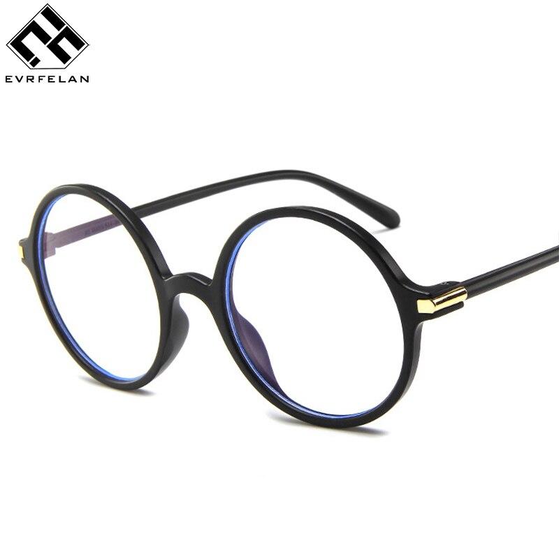 38aca0f69e Evrfelan Retro Black Glasses Frame Round Optical Eyeglasses Frames Men Women  Clear Lenses Transparent Glasses Frame